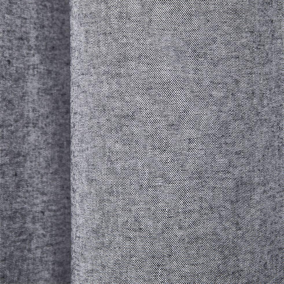 Rideau à œillets en polyester chambray - gris restanque 140x250cm-CORBIERE