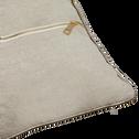 Coussin beige avec passepoil doré 30x50cm-ASTRID