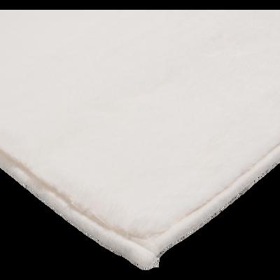 Tapis imitation fourrure blanc ventoux 60x110 cm-ROBIN
