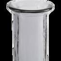 Vase en verre recyclé rose H100cm-KYARA