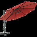 Parasol déporté 3,5M bordeau-IMPERIA