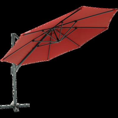 Parasol déporté D3,5m bordeau-IMPERIA