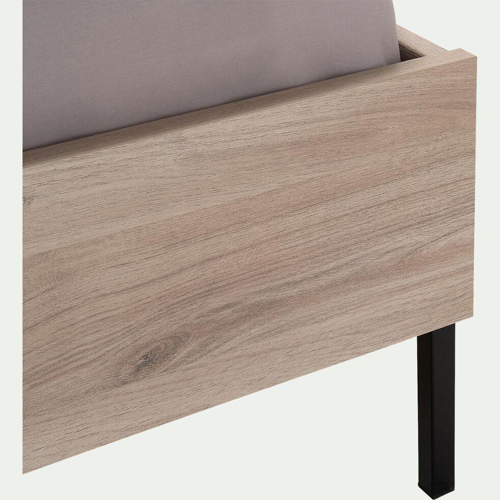 Lit 1 place enfant en bois 120x200cm - effet chêne clair-CASTEL