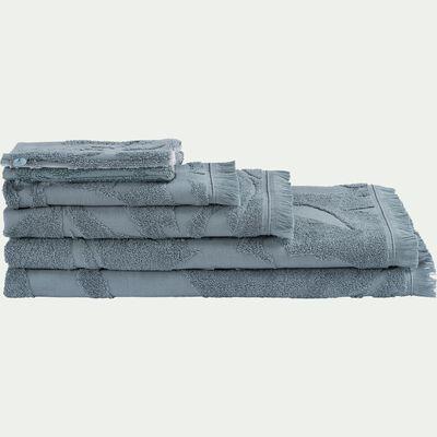 Lot de 2 gants de toilette en coton - bleu calaluna-Ryad