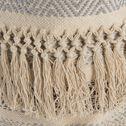 Panier déco en coton - beige H30xD30cm-MAE