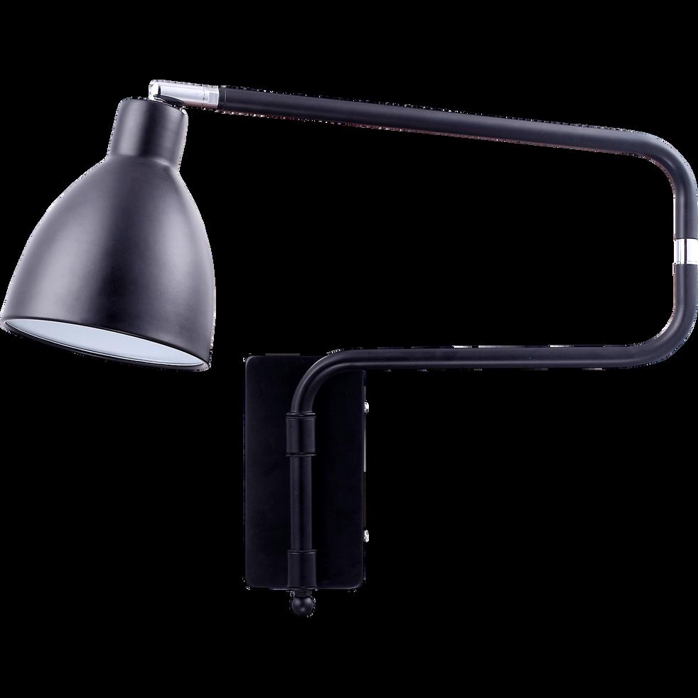 Applique articulée en acier noir H42cm-Brad