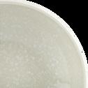 Assiette creuse en faïence verte D16cm-CAMELIA