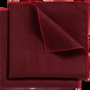 Lot de 2 serviettes de table en lin et coton rouge sumac 41x41cm-MILA