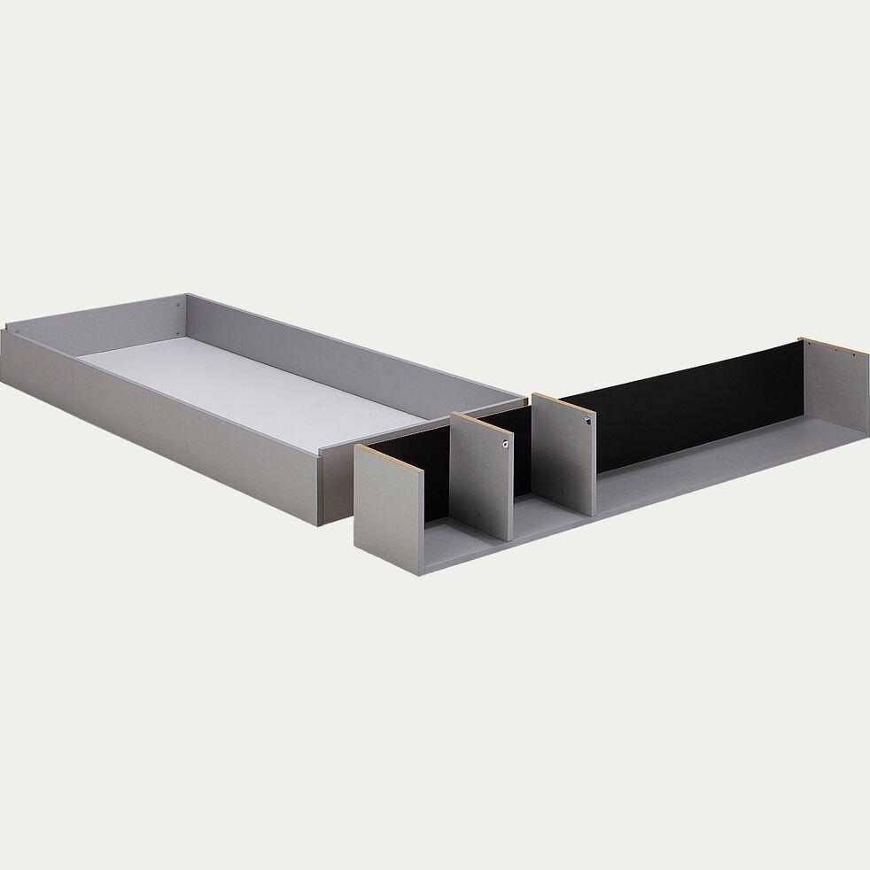Tiroir et niche 160cm - gris-CASTEL