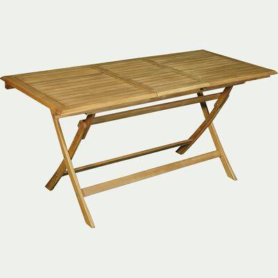 Ensemble table (6 à 8 places) et chaise de jardin en acacia-MILANA