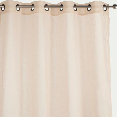 Voilage à œillets en polyester - beige roucas 135x300cm-DUNE
