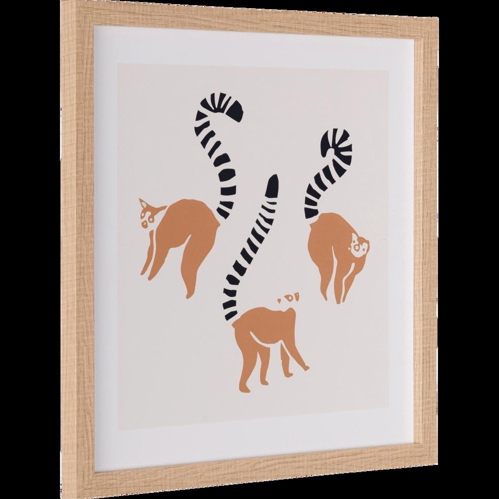 Image encadrée imprimée lemuriens-GABION