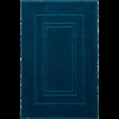 Tapis de bain en coton 50x80cm bleu figuerolles-AZUR