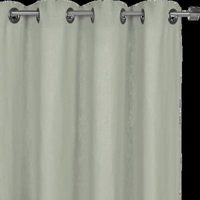 Rideau à oeillets en lin lavé vert olivier 140x280cm-VENCE