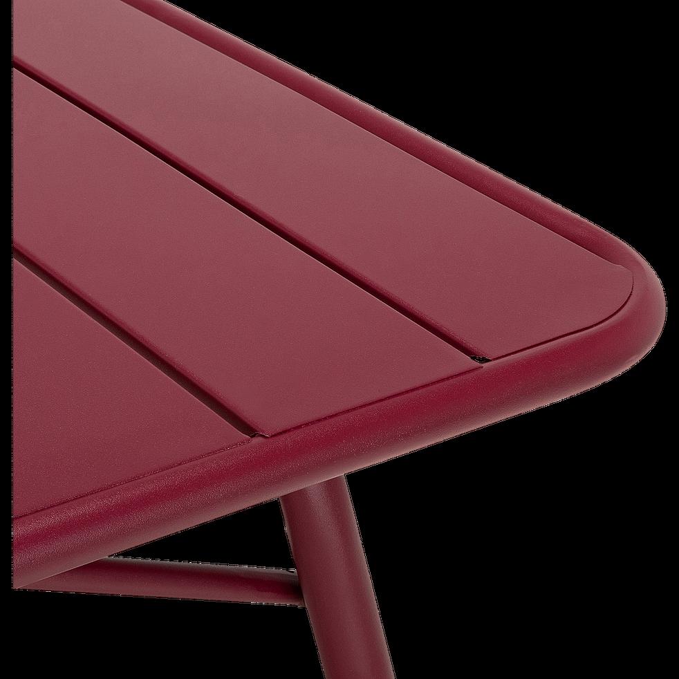 Table de jardin pliante en acier - rouge sumac (4 à 6 places)-Souris