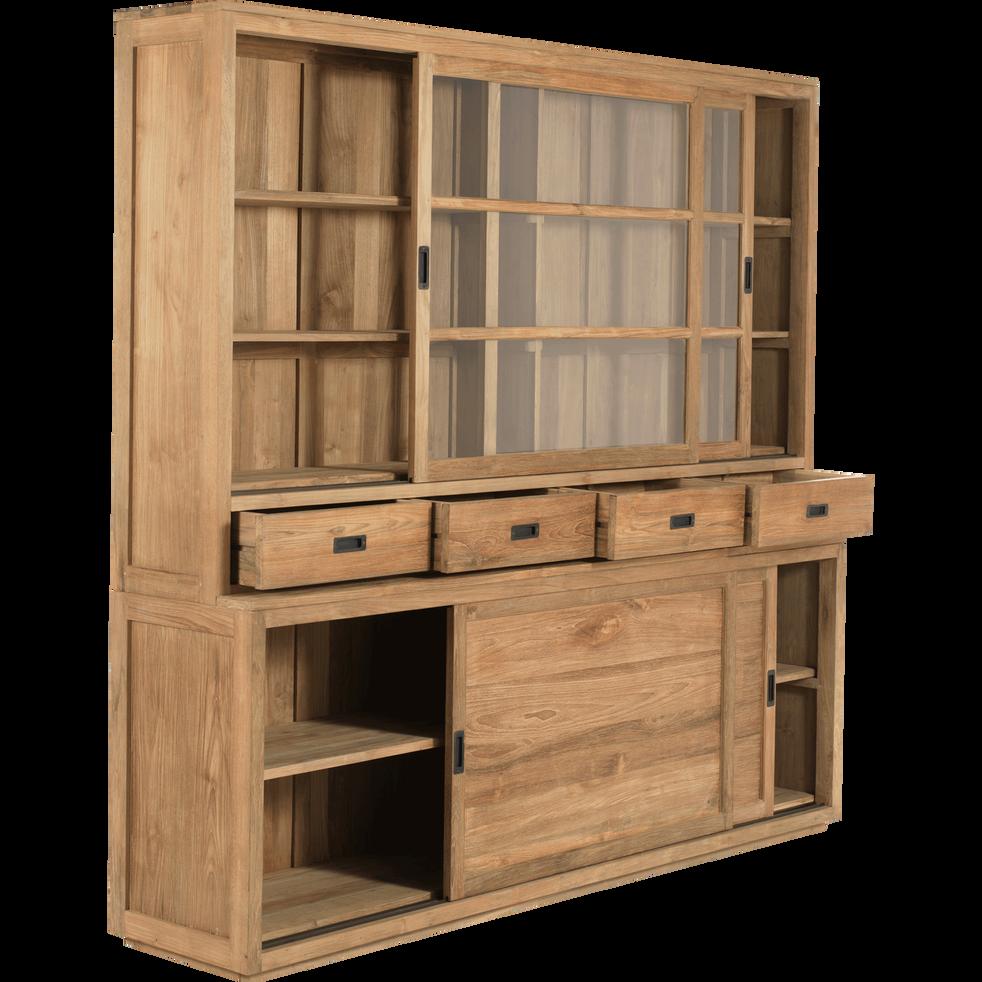 Meuble Salle De Bain Emotion ~ vaisselier en teck avec portes tiroirs et vitrine livr mont
