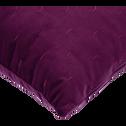 Coussin à motifs en velours violet 40x40cm-OCRES