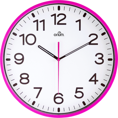 Horloge murale silencieuse fuchsia D30cm-CLOCK