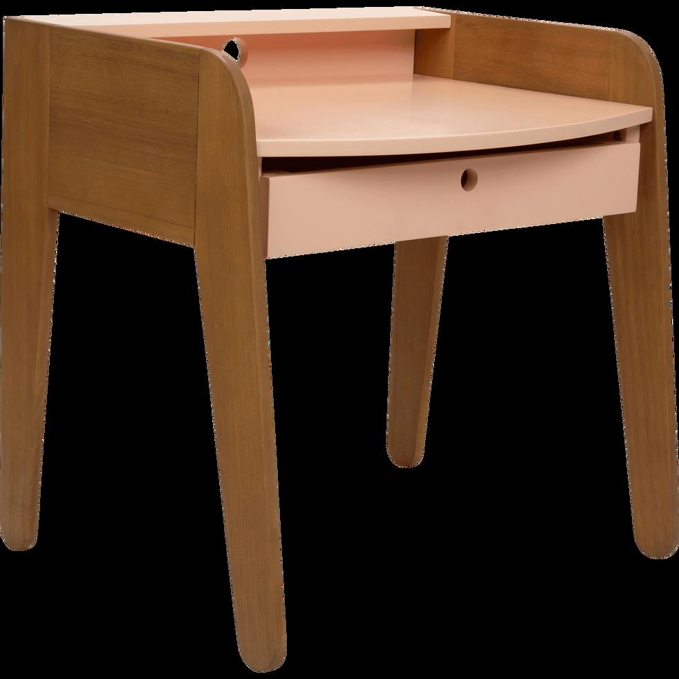 bureau en acacia pour enfant rose sable raphael tables chaises et bureaux enfant alinea. Black Bedroom Furniture Sets. Home Design Ideas