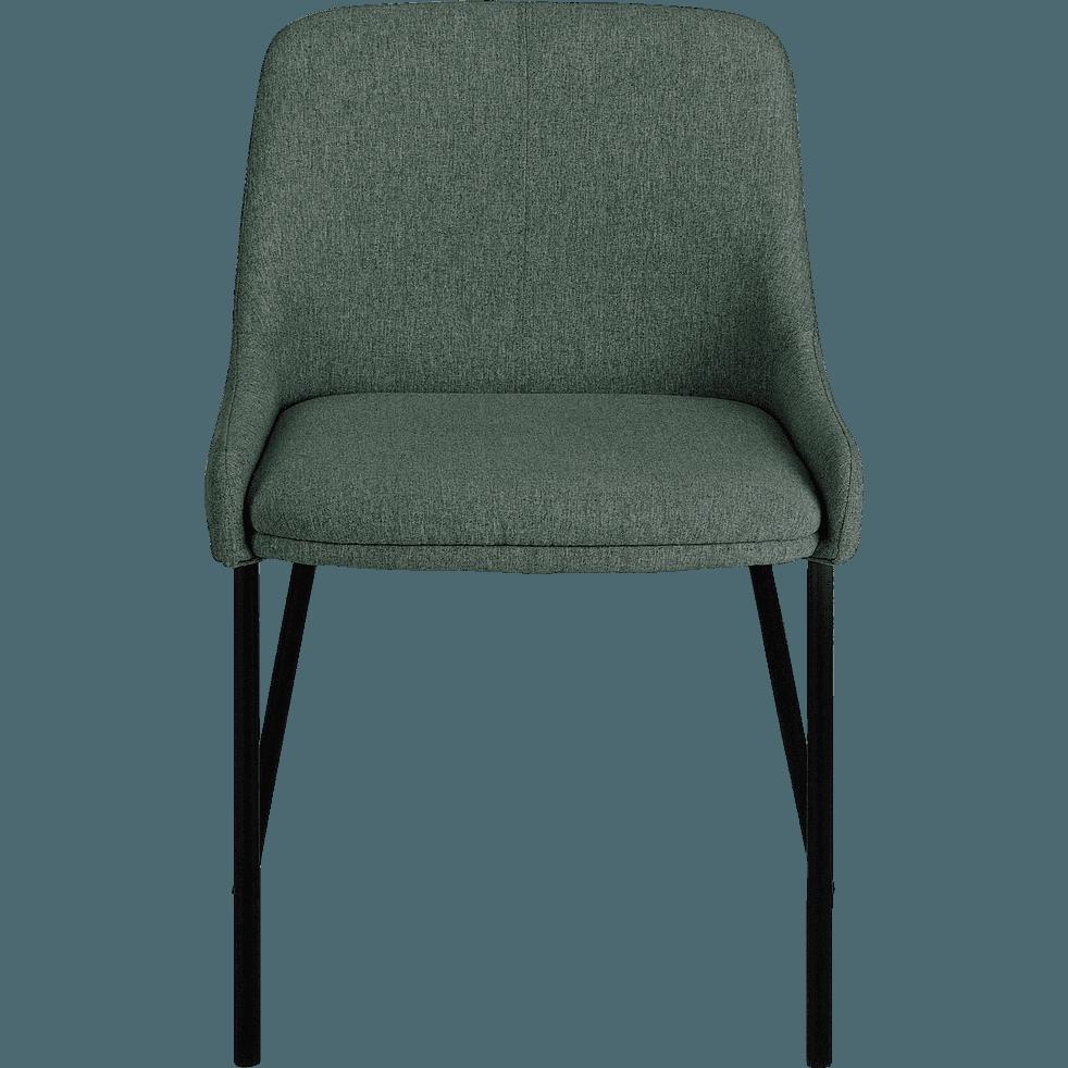 Chaise en tissu vert olivier-TINOU