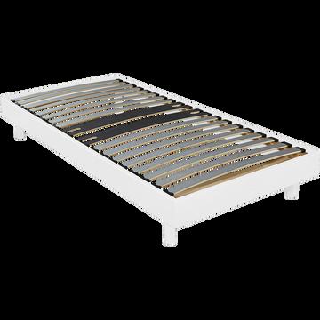 Sommier tapissier blanc Alinéa 12,5 cm en kit - 90x200 cm-DECOKIT