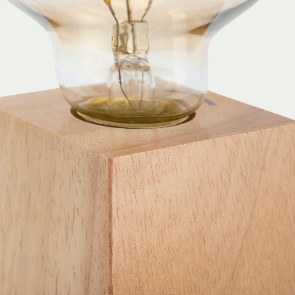 Lampe à poser déco en bois - L10xl10xH20cm-PESO