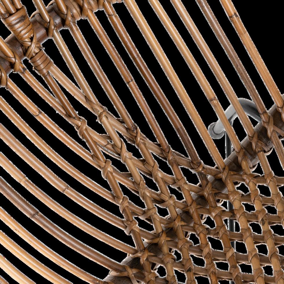 Fauteuil en rotin et métal-SEOUNE
