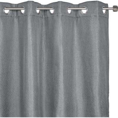 Rideau thermique gris restanque 135x300cm-PINEDE