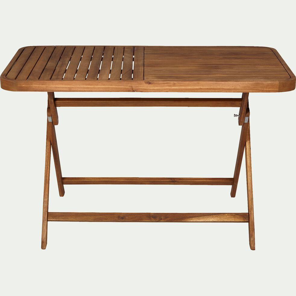 Ensemble table (2 à 4 places) et chaise de jardin en acacia huilé-Youk
