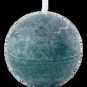 Bougie ronde bleu niolon D6cm-BEJAIA