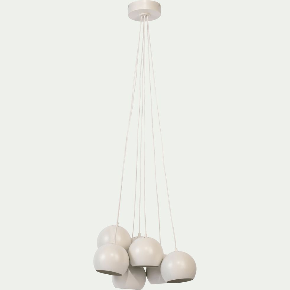 Suspension en métal blanc 7xD18cm-BALL