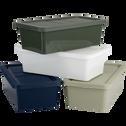 Boîte de rangement en plastique bleu H15,5xP27xl40 cm-ANDATI