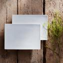 Assiette plate rectangulaire en porcelaine qualité hôtelière-Queen