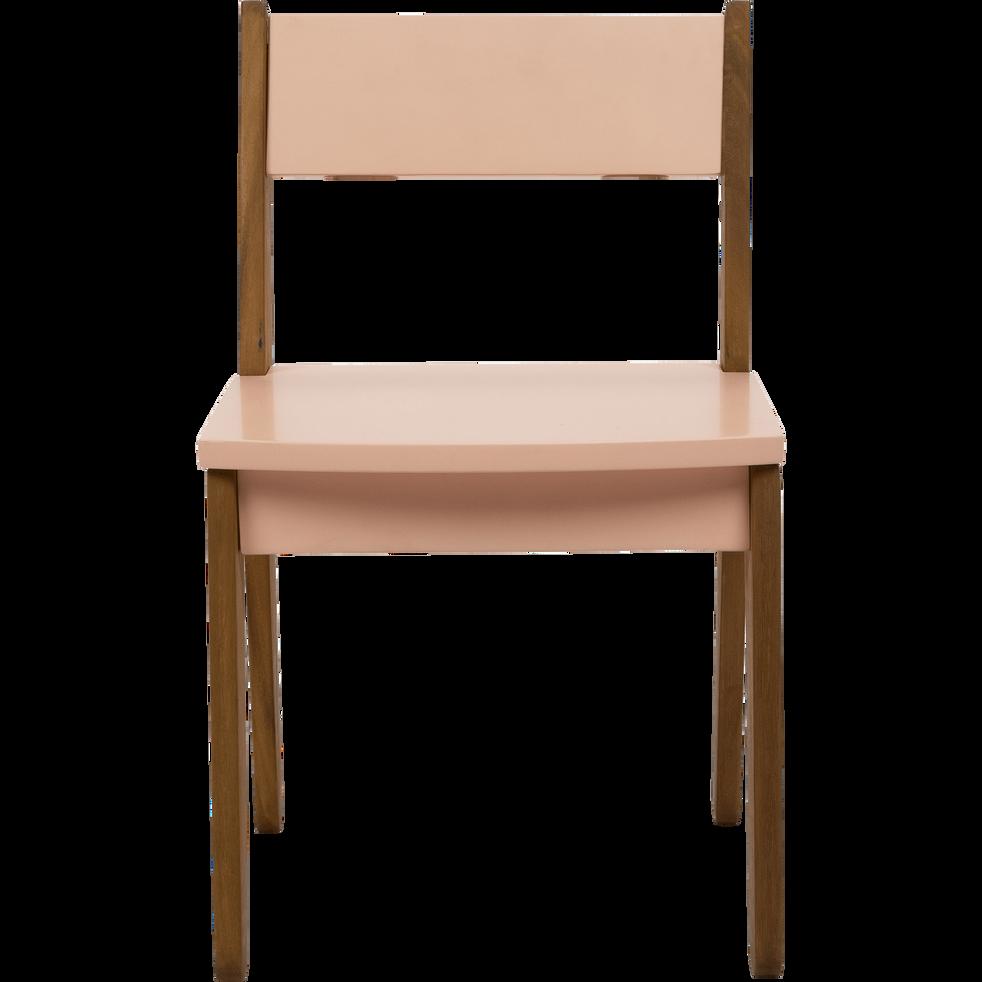 chaise en acacia pour enfant rose sable raphael tables chaises et bureaux enfant alinea. Black Bedroom Furniture Sets. Home Design Ideas