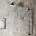 Applique murale en métal noir H100cm-PEDRO