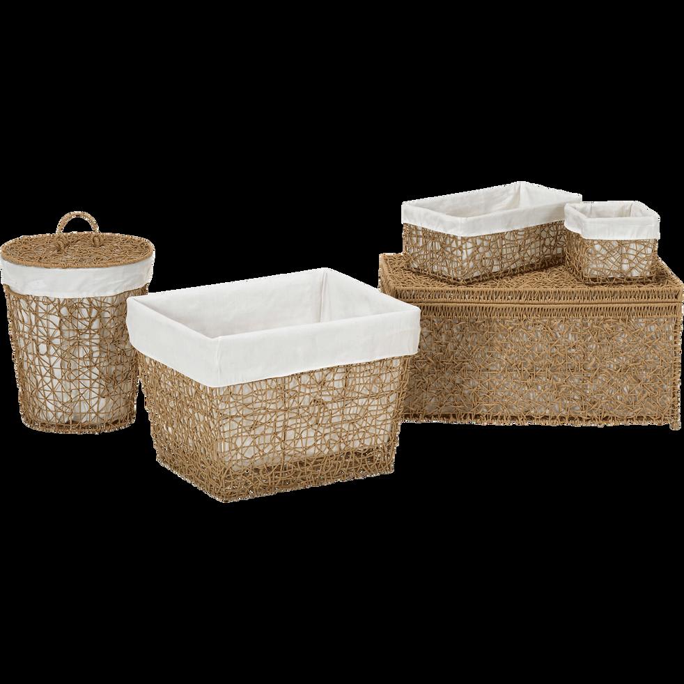 panier linge en corde et fer couvercle grand mod le honey paniers d co. Black Bedroom Furniture Sets. Home Design Ideas