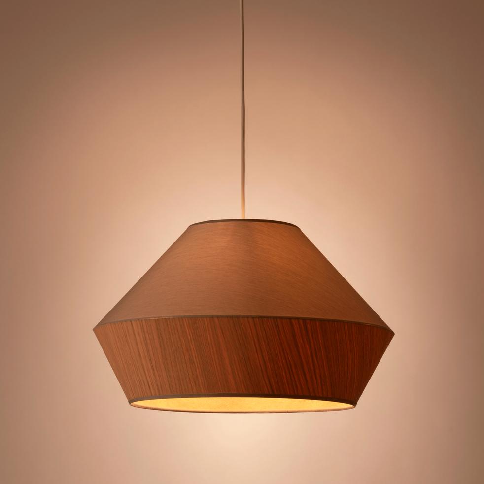 suspension en tissu ch ne et tissu vert d40cm domus r miniscence un no l enchanteur. Black Bedroom Furniture Sets. Home Design Ideas