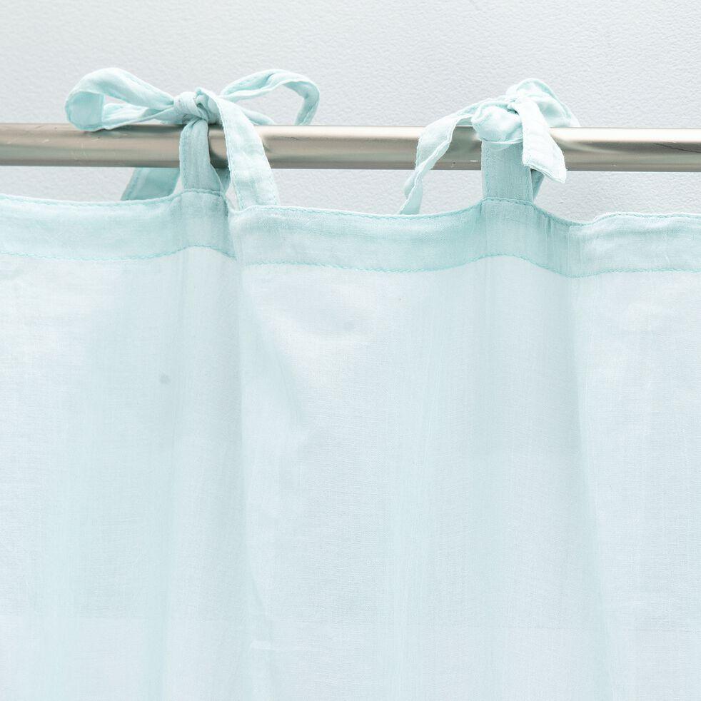 Voilage à nouettes en coton 140x250cm - vert aqua-Lory