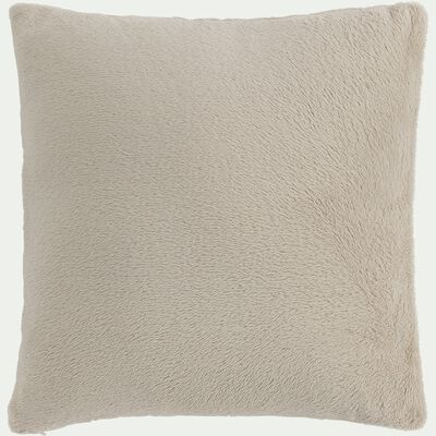 Housse de coussin effet polaire en polyester - beige alpilles 65x65cm-ROBIN