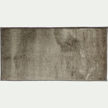 Tapis imitation fourrure - gris foncé 60x120cm-Dallas