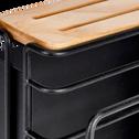 Rangement pour planche à découper et couteaux en métal noir-BLASI