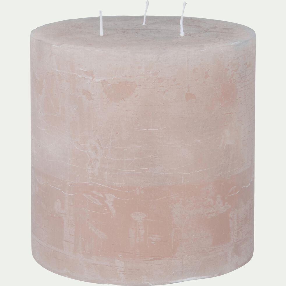 Bougie lanterne coloris rose sable D15xH15cm-BEJAIA