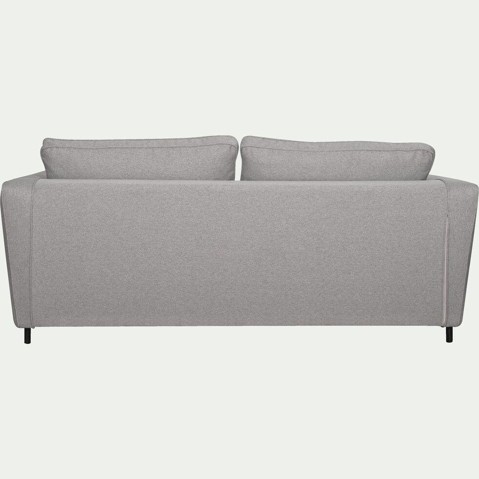 Canapé convertible 3 places en tissu - gris moyen-BARTHOLE
