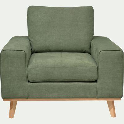 Fauteuil en tissu - vert kaki-PICABIA