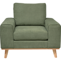Fauteuil en tissu vert kaki-PICABIA
