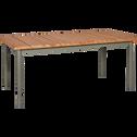 Table de jardin extensible kaki en eucalyptus (6 à 10 places)-GLADYS