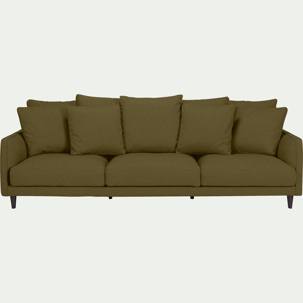 Canapé 5 places fixe en tissu - vert cèdre-LENITA