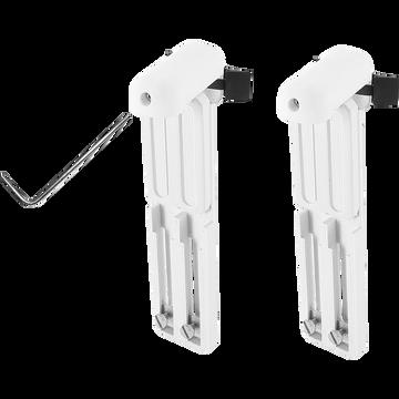 Lot de 2 supports universels avec extension - blanc H17cm-ACCESS