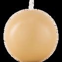 Bougie ronde beige estérel D8cm-HALBA