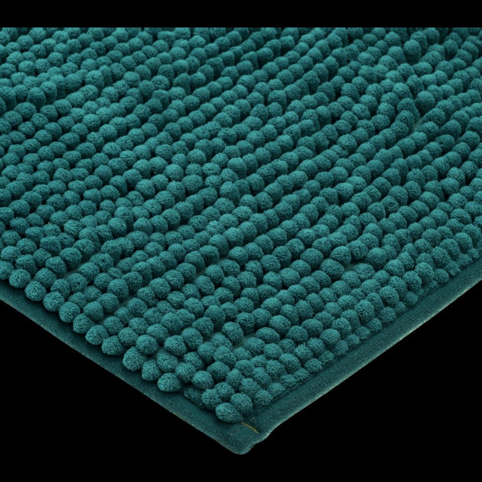 Tapis de bain polyester 50x80cm bleu niolon-PICUS